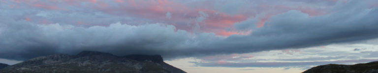 photo nuages roses