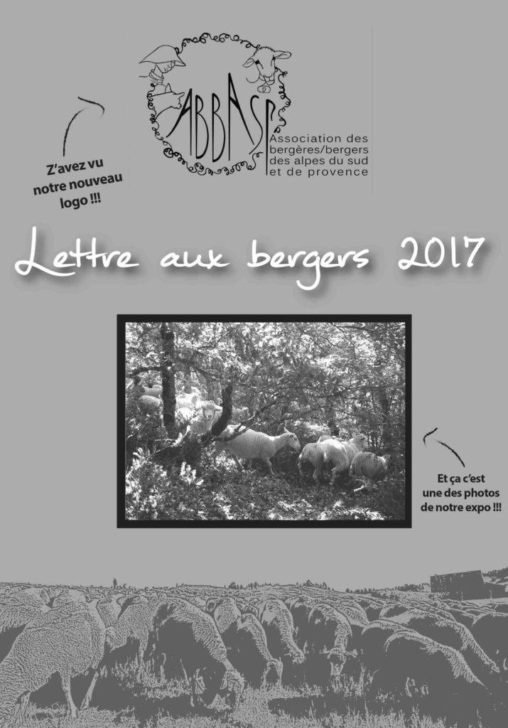 couverture lettre aux bergers 2017